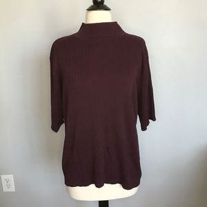 3/ $25 Lane Bryant Short Sleeve Mock Neck Sweater